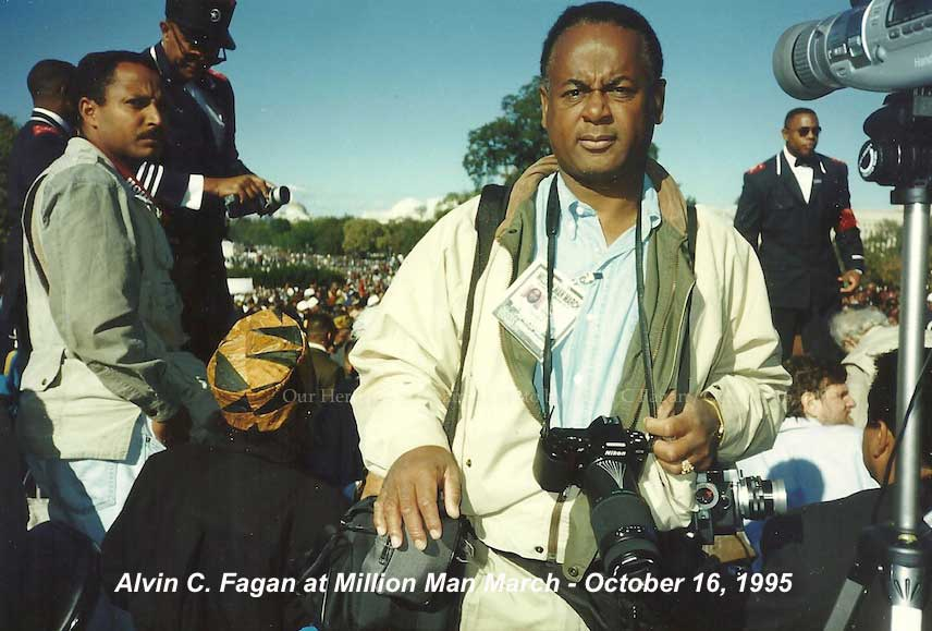 Alvin C. Fagan, Publisher, Our Heritage Magazine, Million Man March, October 16, 1995